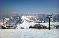 Kagura ski resort of spring skiing
