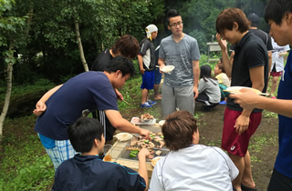 Enjoy barbecue