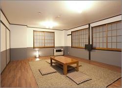 フローリング和室の写真