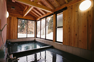 雪見風呂の写真
