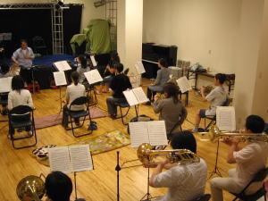 吹奏楽練習の写真